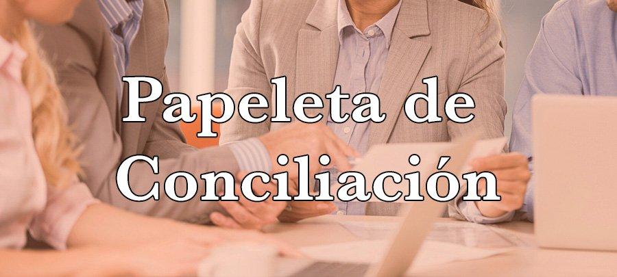 Papeleta de conciliación